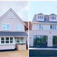 Home exterior make-over in Chalkwell, Essex, with Mackbuild